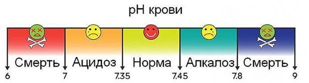 ph крови Ацидоз-Алкалоз